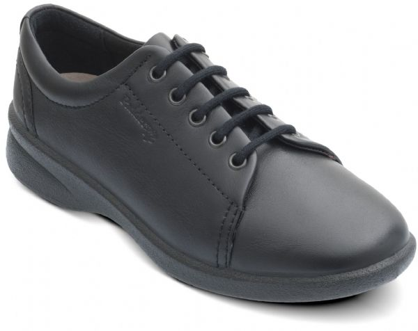 Refresh black leather padders shoe EE-EEEE Duel fit.
